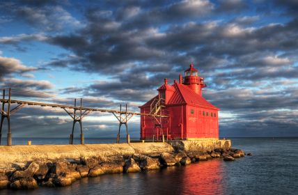 Sturgeon Bay, Door County lighthouse